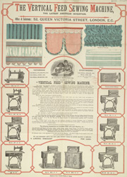 Advert for the Vertical Feed Sewing Machine